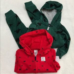 NWT Carters Hoodie&Fleece One Piece Winter Bundle